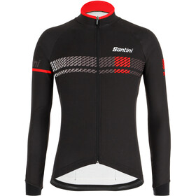 Santini Sera LS Jersey Men black/red